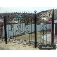 Купить ворота из метала, где купить ворота из металла, ворота с ковкой недорого, кованный забор, www.domaning.ru, кованный забор недорого в Раменском, кованная калитка, секционный забор, House&Dacha?