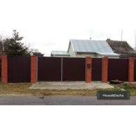 Забор прфнастил, забор профлист, забор недорого в Раменском районе, www.domaning.ru, установка забора недорого в Раменском районе. House&Dacha, забор под ключ,