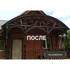 Арка из металла недорого, купить навес для двери, металлоконструкции для дома купить в Москве, завод кованных изделий в Москве