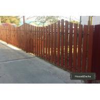 Деревянный забор, забор в Раменском, забор в Московской области недорого, забор из дерева, деревянный штакетник, www.domaning.ru