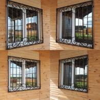 кованая решетка на окно недорого купить в Москве, изготовление решеток на окно, решетки из металла от производителя, House&Dacha, ковка металла в Москве недорого,
