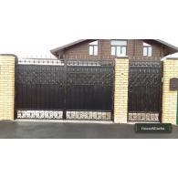 Распашные ворота недорого, ворота недорого, ворота художественная ковка, ворота недорого в Раменском районе, ворота от производителя, www.domaning.ru, ворота под ключ в раменском районе, House&Dacha