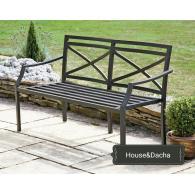 Скамейка из металла недорого. лавочка из металла недорого, купить мебель для сада, мебель из металла, House&Dacha, мебель из металла от производителя, www.domaning.ru