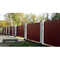 Забор из профлиста, House&Dacha, забор из профнастила, domaning.ru, забор недорого, забор своими руками, забор из профнастила в Раменском районе, заказать строительство забора в Московской области,